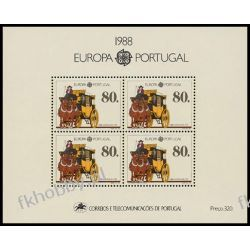 Portugalia 1988 Mi BL 57 ** Europa Cept Transport Konie Sport