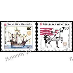 Chorwacja 1992 Mi 211-12 ** Europa Cept Statek Koń