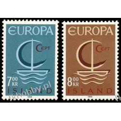 Islandia 1966 Mi 404-05 ** Europa Cept Statek Druk wklęsły