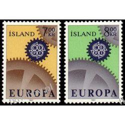 Islandia 1967 Mi 409-10 ** Europa Cept  San Marino