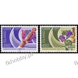 Islandia 1982 Mi 578-79 ** Europa Cept Historia Kolejnictwo