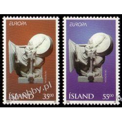 Islandia 1995 Mi 826-27 ** Europa Cept Rzeżba Ptaki