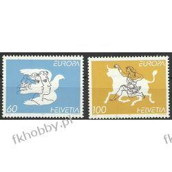 Szwajcaria 1995 Mi 1552-53 ** Europa Cept Byk Gołąb Polonica