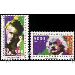 Turcja 1994 Mi 3017-18 ** Cept Skłodowska Curie Einstein Sport