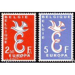 Belgia 1958 Mi 1117-18 ** Europa Cept Gołąb Ssaki