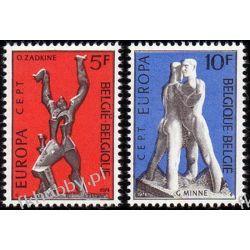 Belgia 1974 Mi 1766-67 ** Europa Cept Sztuka Flora