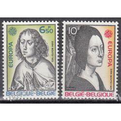 Belgia 1975 Mi 1818-19 ** Europa Cept Malarstwo Pozostałe