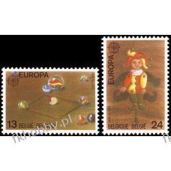Belgia 1989 Mi 2375-76 ** Europa Cept Dzieci Zabawki Pozostałe