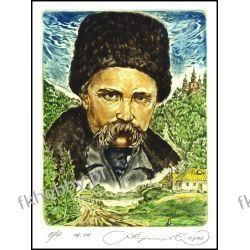 Kirnitskiy Sergey 1998 Exlibris C4 Taras Shevchenko Poet and Painter 1A Antyki i Sztuka