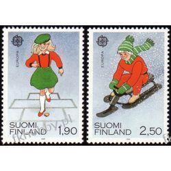 Finlandia 1989 Mi 1081-82 ** Europa Cept Dzieci Druk wklęsły