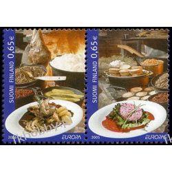 Finlandia 2005 Mi 1749-50 zd ** Europa Cept Gastronomia