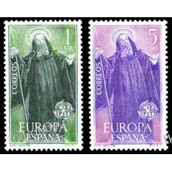 Hiszpania 1965 Mi 1565-66 ** Europa Cept Święty Benedykty Pozostałe