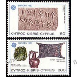 Cypr Gr 1983 Mi 582-83 ** Europa Cept Zabytki Gady i Płazy
