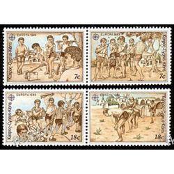 Cypr Gr 1989 Mi 715-18 zd ** Europa Cept Dzieci
