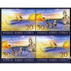 Cypr Gr 2004 Mi 1035-36 x2 ** Europa Cept Morze Statek