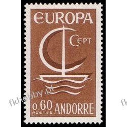 Andora Fr 1966 Mi 198 ** Europa Cept Statek