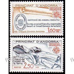 Andora Fr 1982 Mi 321-22 ** Europa Cept Historia Flora