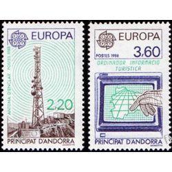 Andora Fr 1988 Mi 390-91 ** Europa Cept Komunikacja Polonica