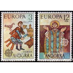 Andora Hi 1975 Mi 96-97 ** Europa Cept Chrystus Polonica