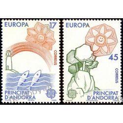 Andora Hi 1986 Mi 188-89 ** Europa Cept Natura Ryby Pozostałe