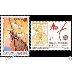 Andora Hi 1992 Mi 226-27 ** Europa Cept Kolumb Statek Sport