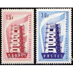 Francja 1956 Mi 1104-05 ** Europa Cept Ssaki