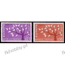 Francja 1962 Mi 1411-12 ** Europa Cept Drzewo Ptaki