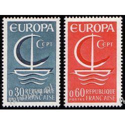 Francja 1966 Mi 1556-57 ** Europa Cept Statek Pozostałe