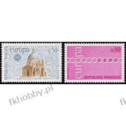 Francja 1971 Mi 1748-49 ** Europa Cept Bazylika San Marino