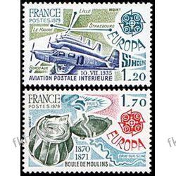 Francja 1979 Mi 2148-49 ** Europa Cept Samolot Lotnictwo