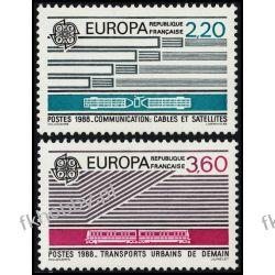 Francja 1988 Mi 2667-68 ** Europa Cept Kolej Kolejnictwo