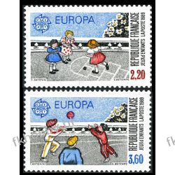 Francja 1989 Mi 2716-17 ** Europa Cept Dzieci Sport