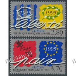 Francja 1995 Mi 3084-85 ** Europa Cept Wojna Kolekcje