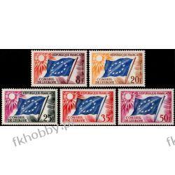 Francja 1958 Mi di 2-6 ** Europa Cept Europarat Flagi Kolekcje