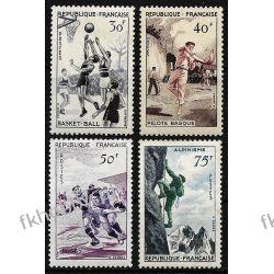 Francja 1956 Mi 1100-03 ** Sport Góry Ptaki