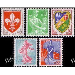 Francja 1960 Mi 1274-78 ** Herby Pozostałe