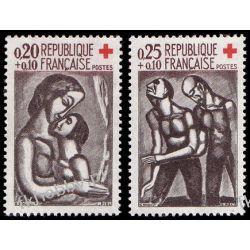 Francja 1961 Mi 1376-77 ** Czerwony Krzyż Sport