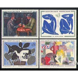 Francja 1961 Mi 1372-75 ** Malarstwo Polonica