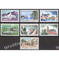 Francja 1961 Mi 1365-71 ** Architektura Harcerstwo i Skauting