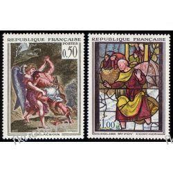 Francja 1963 Mi 1426-27 ** Malarstwo Witraż Pozostałe