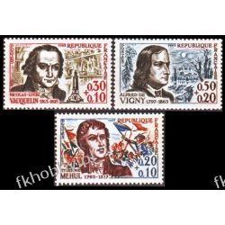 Francja 1963 Mi 1439-41 ** Czerwony Krzyż Muzyka