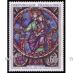 Francja 1964 Mi 1474 ** Katedra Notre Dame Witraż
