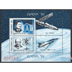 Rumunia 1994 Mi BL 289 ** Europa Cept Kosmos Lotnictwo Lotnictwo