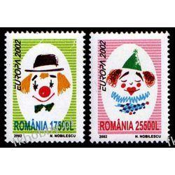 Rumunia 2002 Mi 5657-58 ** Europa Cept Cyrk Clown San Marino