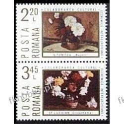 Rumunia 1975 Mi 3258-59 zd ** Cept INTEREUROPA Kwiaty Ptaki