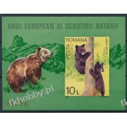 Rumunia 1980 Mi BL 168 ** Cept Zwierzęta Niedżwiedż