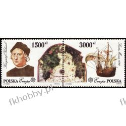 Polska 1992 Mi 3377-78 zd ** Europa Cept Kolumb Statek Sport