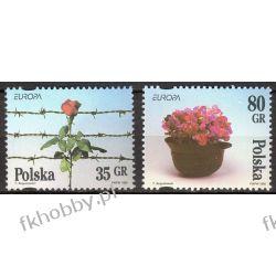 Polska 1995 Mi 3533-34 ** Europa Cept Wojna Kwiaty Ssaki