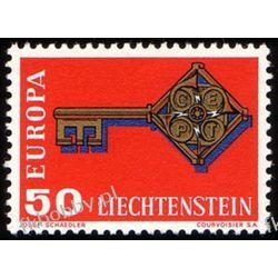 Liechtenstein 1968 Mi 495 ** Europa Cept  Marynistyka