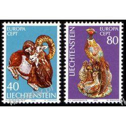 Liechtenstein 1976 Mi 642-43 ** Europa Cept Sztuka Sport